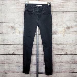 Levi's Black 710 Super Skinny Jeans